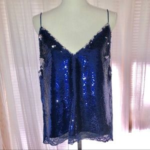 Free People Sequined top, size L